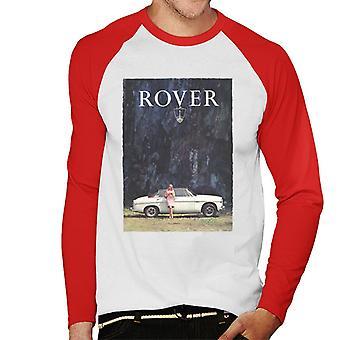 Rover Poster Design British Motor Heritage Men's Baseball Long Sleeved T-Shirt