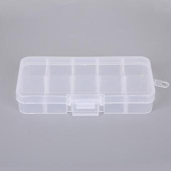 1pcs Adjustable Transparent Plastic Storage Sewing Tools Box