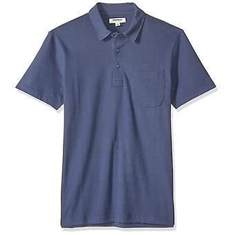 Goodthreads Men's Kurzarm Sueded Jersey Polo, Marine, groß