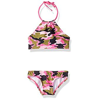 Kanu Surf Big Girls' Mahina Beach Sport Halter Bikini 2-Piece Swimsuit, Erin ...