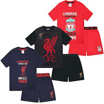 Liverpool FC Official Football Gift Boys Short Piżamy