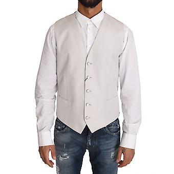 Dolce & Gabbana White Silk Blend Dress Vest Blazer -- TSH2503600