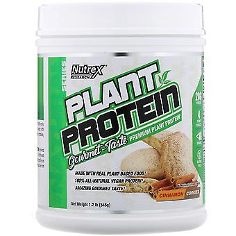 Nutrex Research, Natural Series, Plant Protein, Cinnamon Cookies, 1.2 lb (545 g)