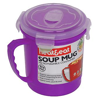 Heat & Eat Microwave Mug, Purple