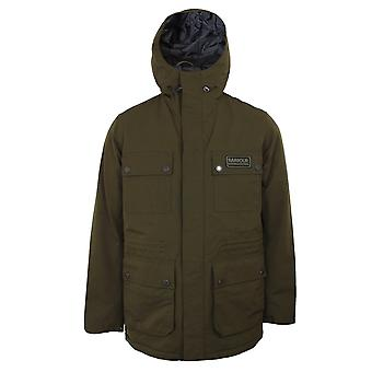 Barbour international men's olive endo jacket