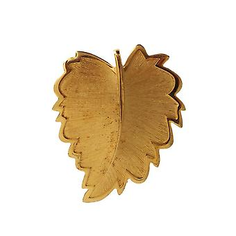 Dolce & Gabbana Gold Plated Brass Leaf Brooch SIG19562