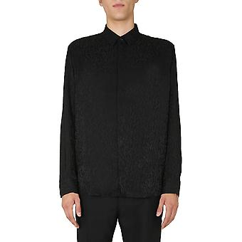 Saint Laurent 564172y2b191000 Men's Black Silk Shirt