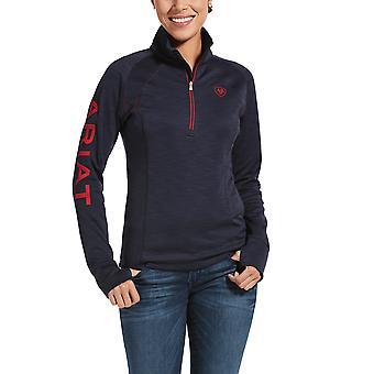 Ariat Tek Team Womens 1/2 Zip Sweatshirt - Navy Heather