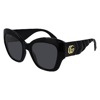 Gucci GG0808S 001 Black/Grey Sunglasses