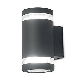 Elstead Magnus - 2 Licht Outdoor Up Down Wall Licht Graphit IP44