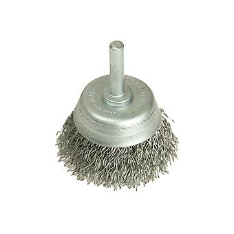 Lessmann DIY Cup Brush with Shank 50mm x 0.35 Steel Wire LES43012307