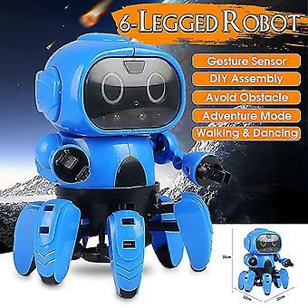 الذكية الاستشعار الروبوت الجذعية 6 أرجل لفتة الاستشعار بالأشعة تحت الحمراء تجنب عقبة المشي / الرقص الروبوت لعبة Diy