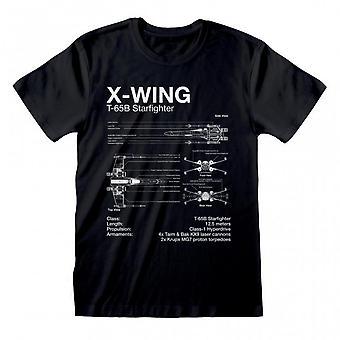 Star Wars Unisex Erwachsene X-Wing T-Shirt