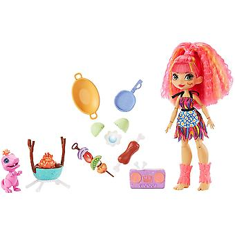 Cave Club - Wild About Bbqs Playset + Emberly Doll