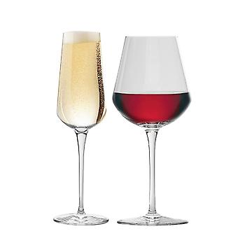Bormioli Rocco Inalto Uno Suuri viinilasi & Samppanjahuilu - 12 lasin setti