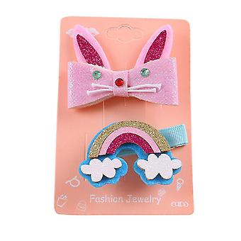 Kids Infant Baby Girls Cartoon Rainbow Hairclip, Tornante, Barrette, Copricapo