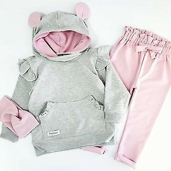 Autumn Newborn Baby Girl Clothes- Rabbit Ears Long Sleeve Tops / Leggings