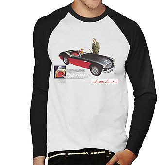 Austin Healey Black 100 Six British Motor Heritage Men's Baseball Long Sleeved T-Shirt