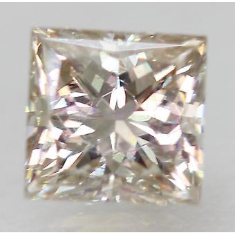 Sertifioitu 0,66 karat J VVS2 Princess Enhanced Natural Loose Diamond 4.7x4.59mm