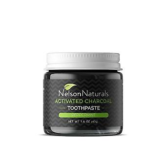Nelson Naturals Activated Charcoal Toothpaste, Peppermint 1.6 Oz