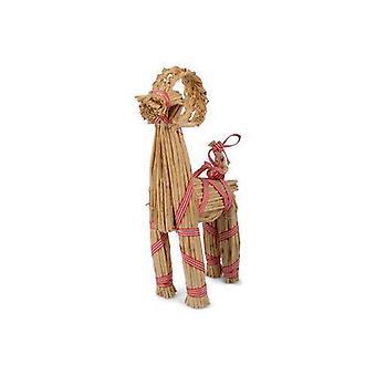 Halmbock Jul natur/rödrandig 30 cm