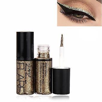 Metaliczny błyszczący, smoky eye-shadow - Wodoodporny brokatowy płyn do eyelinera