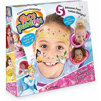 Face paintoos disney princess edition, 5 disney princess characters and designs,