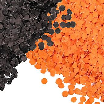 Konfetti Orange - Sort Blandet - Halloween