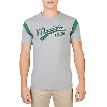 Oxford university roundneck short sleeves t-shirt with contrasting colour stripe - magdalen-varsity-mm