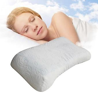 Cotton memory orthopedic sleep blue cool comfort gel neck pillow
