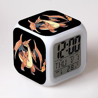 Färgglada multifunktionella LED Barn's väckarklocka -Pokémon #48