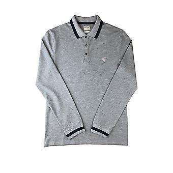 GUESS Guess Polo Shirt à manches longues Gris