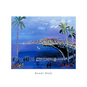 Baie Des Anges Nice c1926 Poster Print by Raoul Dufy (20 x 16)