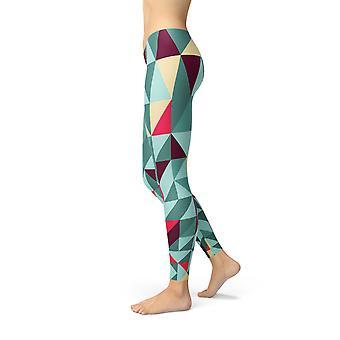Naisten Leggingsit Värikkäät geometriset kolmiot