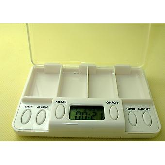 Time Reminder Pill Storage Box With Lcd Screen
