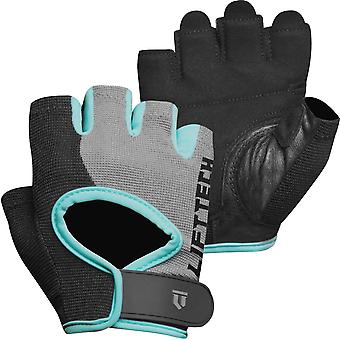 Lift Tech Fitness Damen's Klassische Gewichtheben Handschuhe - Petrol/Grau/Schwarz