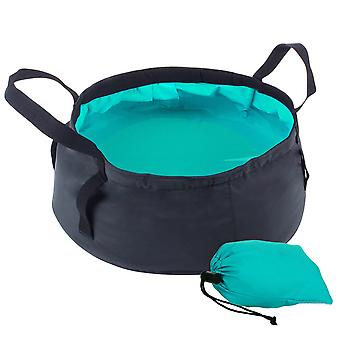 8.5l Oxford Cloth Portable Folding Basin Outdoor Camping Bucket