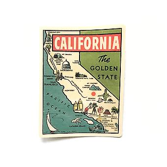 Vintage Californien Vinyl Sticker