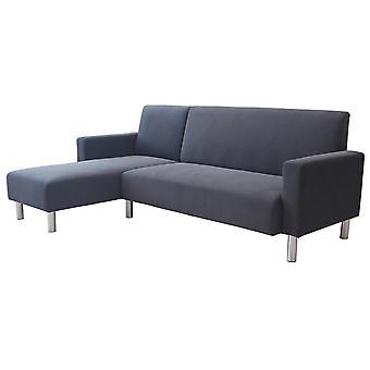 """Sofá en tela esquinero reversible """"Rio""""- Gris"""