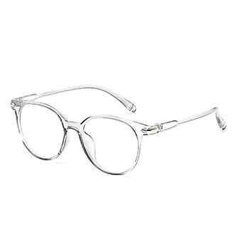 Women Men Round Anti Blue Light Optical Eyeglasses Frame.