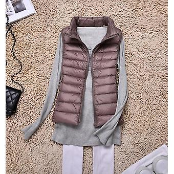 Autumn Women Ultra Light Down Vest Duck Down Coat Parka Ladies Sleeveless