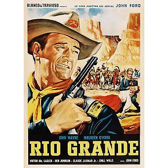 Rio Grande John Wayne 1950 film Poster Masterprint