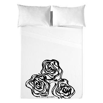 Top sheet Devota & Lomba Roses/UK letto king size (230 x 270 cm)