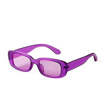 قصيرة مربع النظارات الشمسية والنساء الرجعية الفهد نظارات شمسية صغيرة الرجال Uv400