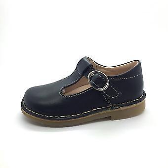 PETASIL Tbar Shoe Crosspatch Navy Blue