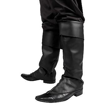 Boland 81996 pirat musketör syntetisk läder boot toppar svart