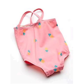 Essentials Baby Girl's Maillot de bain one-piece, Ananas rose, 24M
