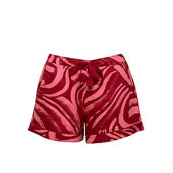 Cyberjammies Kristen 4758 Women's Red Spiral Print Cotton Pyjama Short