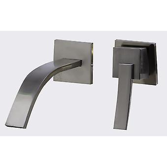 Alfi Brand Ab1256-Bn Brushed Nickel Single Lever Wallmount Bathroom Faucet