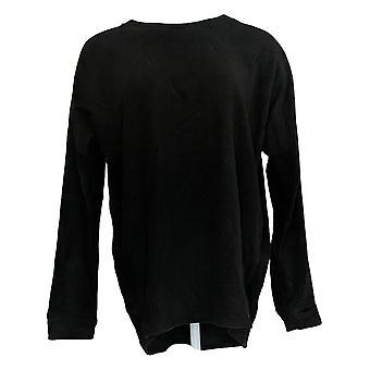 عناق دودس المرأة & ق سترة الصوف تمتد Pullover الأسود A293093